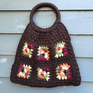 Granny Square Purse Hobo Shoulder Bag tote